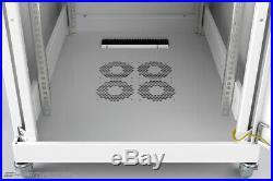 18U Rack 35 Inch Deep Server Cabinet IT Data Network Rack Enclosure Gray Colour