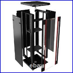 18U Rack Wall Mount / Free Standing Server Cabinet Enclosure with Bonus Free