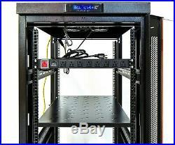 18U Server Cabinet Glass Door 32 Deep Rack Enclosure/Free Shipping&Accessories