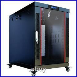 18U Server Rack Cabinet Enclosure Premium Series Network Cabinet 24 Depth