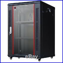 18U Server Rack Enclosure 18 Depth Wall/Floor Rack Cabinet/Free Accessories