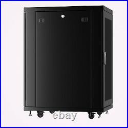 18U Server Rack IT Cabinet Data Network Rack Enclosure 39-Inch Deep Rack Stand