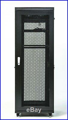 18U Server Rack It Cabinet Network Data Enclosure Vented Mesh Perforate Doors