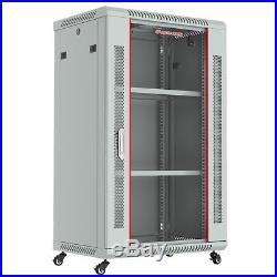 18U Wall Moun Network IT Server Cabinet Enclosure Rack Case Lockable Accessories