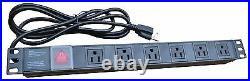 18U Wall Mount GRAY IT Network Data Server Rack Cabinet Enclosure 24 Depth