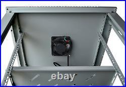 18U Wall Mount GRAY IT Network Data Server Rack Cabinet Enclosure 24 Depth Rack