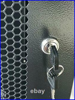 18U Wall Mount Network Server Cabinet Rack Enclosure Door Lock 600mm Deep