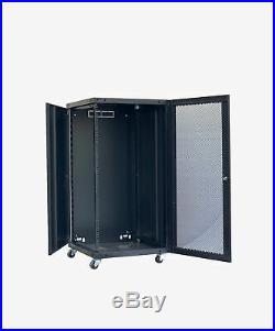 18U Wall Mount Network Server Cabinet Rack Enclosure Lock Door 22.75 Depth