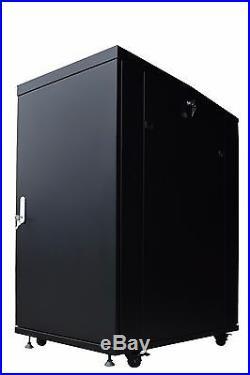 22U 35 Deep Server Rack Enclosure IT Data Network Server Rack Cabinet