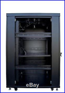 22U 35 Depth IT & Telecom Server Rack Cabinet Enclosure. CDM + Bonus Free