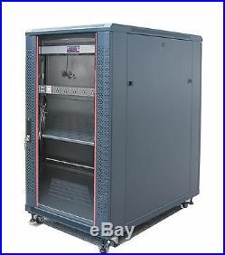 22U 39 Deep 19 Free Standing Server Rack Cabinet Enclosure Accessory Free