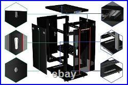 22U 39 Depth 19 Deep IT Network Data Server Rack Cabinet Enclosure Sysracks