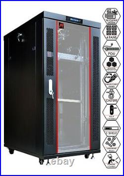 22U 39 inch Deep Server Rack Network Locking Rack Cabinet Enclosure