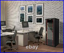 22U IT Rack 24 inch Depth Server Cabinet Data Network Enclosure with Accessories