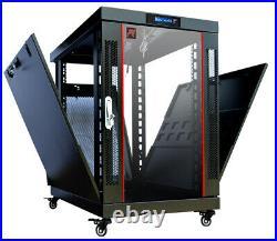 22U Server Rack Cabinet 35 inch Depth Data Network Enclosure Premium Series