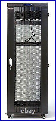 22U Server Rack Data Cabinet It Network Enclosure MESH DOORS LCD Screen PDU