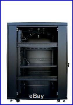 22U Server Rack It Cabinet Network Data Enclosure Vented Mesh Perforate Doors