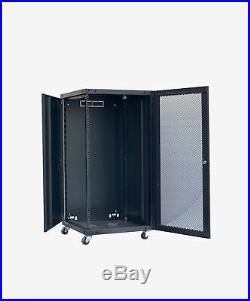 22U Wall Mount Network Server Cabinet Rack Enclosure Ventilated Door 4 Pieces