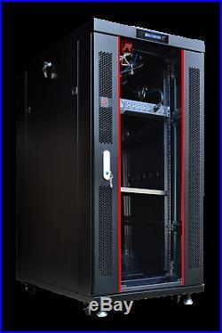 27U 19 IT Free Standing Server Rack Cabinet Enclosure + Bonus