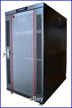 27U 39 Deep Server Rack Cabinet Enclosure Free Standing IT Data Network Cabinet