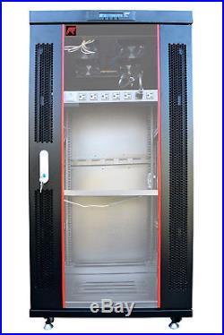 27U 39 Depth IT & Telecom Server Rack Cabinet Enclosure. CDM + Bonus Free
