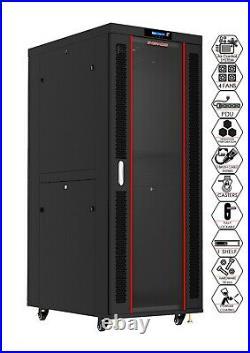 27U 39 Inch Server Rack Data Network Cabinet IT Enclosure