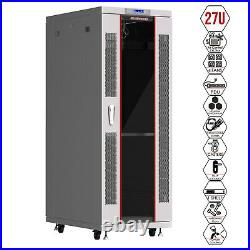 27U IT Network Server Data Cabinet Rack Enclosure with Accessories
