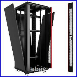 27U IT Rack 24 inch Depth Server Cabinet Data Network Enclosure with Accessories