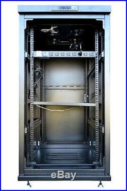 27U Server Cabinet Glass Door 39 Deep Rack Enclosure/Free Shipping&Accessories