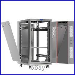 27U Server Rack Network Cabinet It Data Enclosure Accessories Over $190 Value