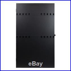 2U Vertical Enclosure Wall Mount Rack Low Profile Cabinet 36 Server Depth Black