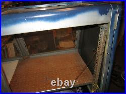 2- Ingersoll Emcor FR75, 19 in. Rack Mount Enclosure Cabinet, tilted front, Door
