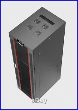 32U 32 Deep Server IT Lockable Network Data Rack Cabinet Enclosure Sysracks