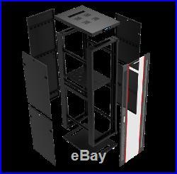 32U 35 Deep Server Rack Cabinet Enclosure Fits Most 19 Equipment. BONUS Free