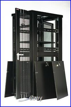32U 39 Deep IT Free Standing Server Rack Cabinet Enclosure
