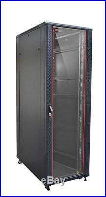 32U 39 Deep Server Rack Cabinet Enclosure Free Standing IT Data Network Cabinet