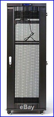 32U Server Rack Cabinet Network IT Data Enclosure Mesh Vented Doors $190 BONUS