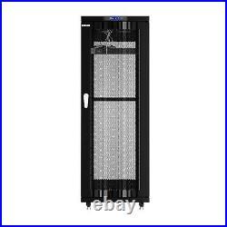 32U Server Rack IT Cabinet Data Network Rack Enclosure 24-Inch Deep Rack Stand