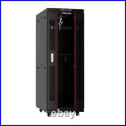 32U Server Rack It Cabinet Network Enclosure Glass Door $190 Accessories