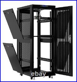 32U Server Rack It Cabinet Network Enclosure Vented Doors $190 Accessories