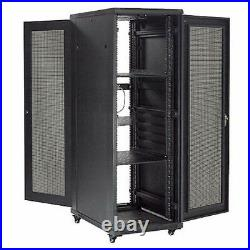 37U Network Server Data Rack Enclosure Cabinet with Vented Doors, Assembled