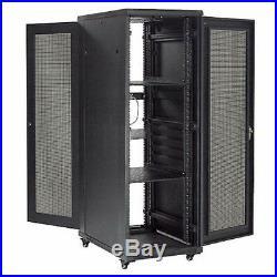 37U Network Server Data Rack Enclosure Cabinet with Vented Doors, Unassembled