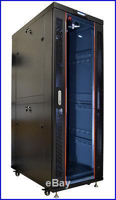 42U 35 Deep IT Free Standing Server Rack Cabinet Enclosure. Fits Most Servers