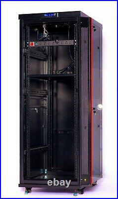 42U IT Network Server Data Cabinet Rack Enclosure with Accessories