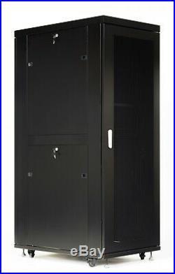 42U Server Rack Cabinet Network IT Data Enclosure Mesh Vented Doors $190 BONUS