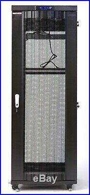 42U Server Rack It Cabinet Network Data Enclosure Vented Mesh Perforate Doors