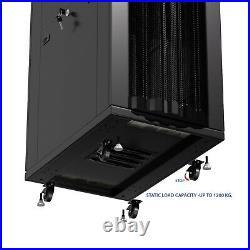 42U Server Rack It Cabinet Network Enclosure Vented Doors $190 Accessories
