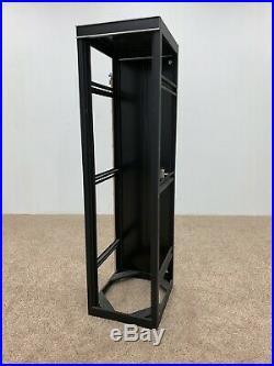 42u 19 Rack Enclosure Cabinet, 4 Post, Open Frame, Adjustable Depth & Back Door