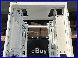 48U DAMAC Server Rack Cabinet Enclosure with Side Panels+Wheels, Square Holes