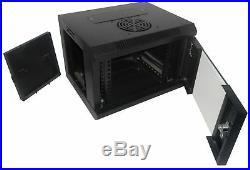 4U-High 12''-Deep 10''-Narrow Wallmount Cabinet Enclosure Network Rack Lockin